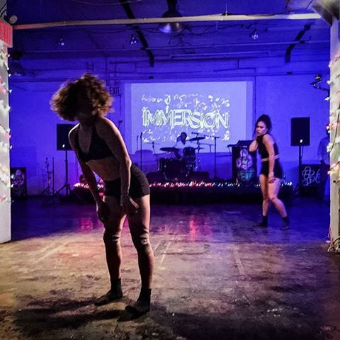 MARCH 19, 2016     IMMERSION    Suku Dance Lab's co-founder, Belinda Adam and Talia Moreta, played with the audience by performing a teaser of  P I A at The Creators Collective Pop Up Performance: Immersion. The performance took place at Livestream Bushwick, located on Morgan ave, Brooklyn, NY. The performance was a part of an evening of xperimental and collaborative art and performance from local artists presented in Livestream Public's inspiring, multipurpose space.