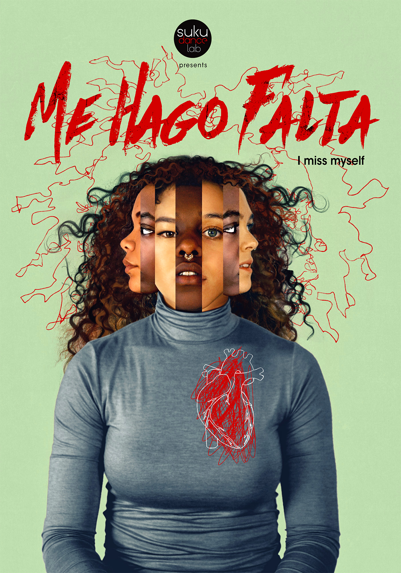 October 28 & 29, 2017     ME HAGO FALTA World Premiere    Suku Dance Lab presented The World Premiere of ME HAGO FALTA. The performance took place at 100 Bogart in Brooklyn, NY.  ME HAGO FALTA is Suku Dance Lab's first evening length production of immersive and interactive dance theater performance.    Performers:  Belinda Adam, Anya Clarke, Reanna Comstock, Dominica Greene, Nuria Martin Fandos. J'nae Simmons