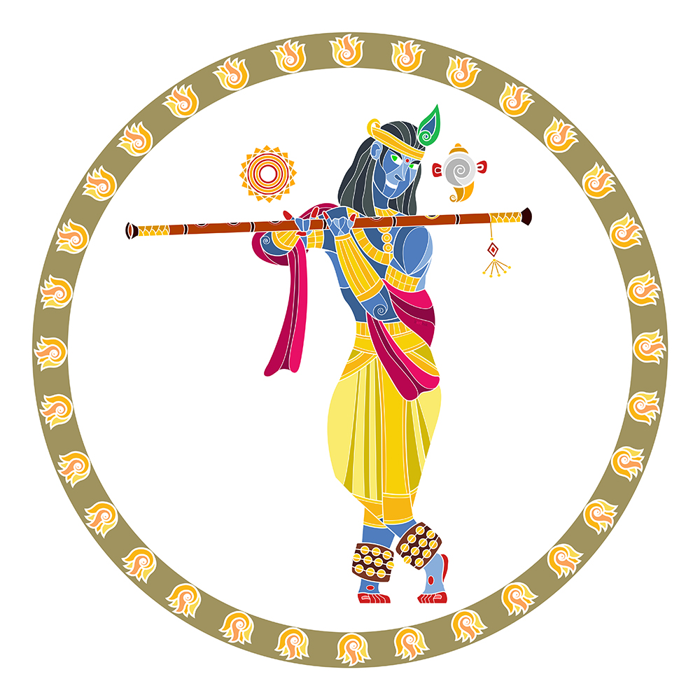 "Krishna Avatar  In Bharatanatyam, Krishna is often shown in this common pose of standing with crossed legs and holding a flute. Usually the cows are grazing or gopis are dancing in the background, enjoying the divine music of his flute. It's a fairly simple and very iconic image.   His brother Balarama, holding a plough, is often associated with agriculture. According to the story, Balarama once called Yamuna to come to him, but when she refused, he hooked her hair with his plough and dragged her to where he was. I suppose this is metaphorical of revolutionary irrigation techniques involving damming or redirecting river waters for agriculture.  Krishna is strongly associated with animal husbandry, where the cows were said to give more milk just by listening to his flute.    Together, Krishna and Balarama form the duality of the agricultural revolution. They represent a shift from the Vedic beliefs, where the deities Indra and Varuna were worshipped for rain/water, to a state of self reliance and better harnessing the natural resources of land and water. It also represented a shift of mentality in working towards what you wanted instead of waiting for some divine sign or intervention.   Stories within the Mahabharat tell us that when Krishna suggests that the villagers stop worshipping unseen forces like Indra to nurture the known forces of the surrounding environment, he was met with strong resistance to this shift of thought, evidenced by Indra thundering his anger upon the villagers via torrential rains and Krishna protecting the townsfolk under the Govardhana hill.   This sort of ""harness/develop your natural resources"" attitude is evident once more when Krishna and Balarama help the Pandavas convert the dense forests/arid deserts of Khandavaprastha into the fertile cultivable/livable land of Indraprastha.   Most animals choose to adapt to the environment they are placed in and either die out if the environment has drastic changes or are forced to re-adapt once again. Few animals come to mind that shape their own environment. One is the beaver, which is also MIT's mascot, is considered to be the Engineer of the natural world owing to its ability to build dams and reshape its eco-system. Another is the termite, which builds giant mounds to help regulate temperature and water.   So, what are the resources sitting unused around you? What are you going to do about them? How have you shaped your environment to better suit your needs?   Isn't that the true meaning of Engineering?"