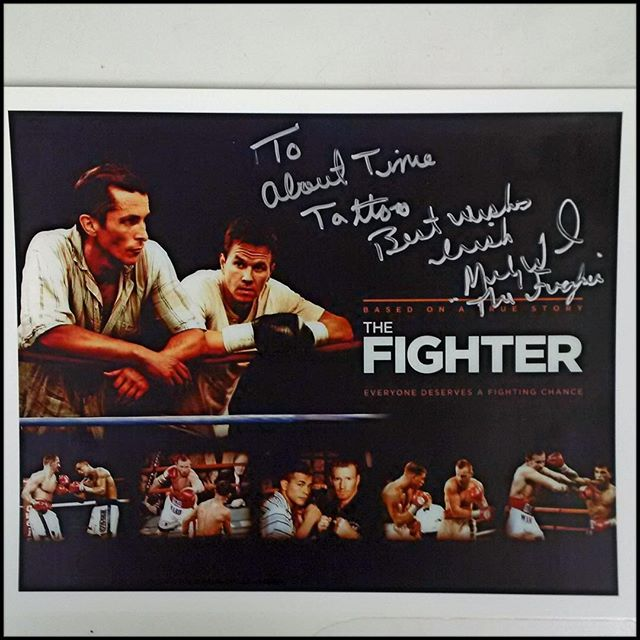 "A gift from ""The Fighter"" Mickey Ward. Thanks Darren! #abouttimetattoo, #MickeyWard,"