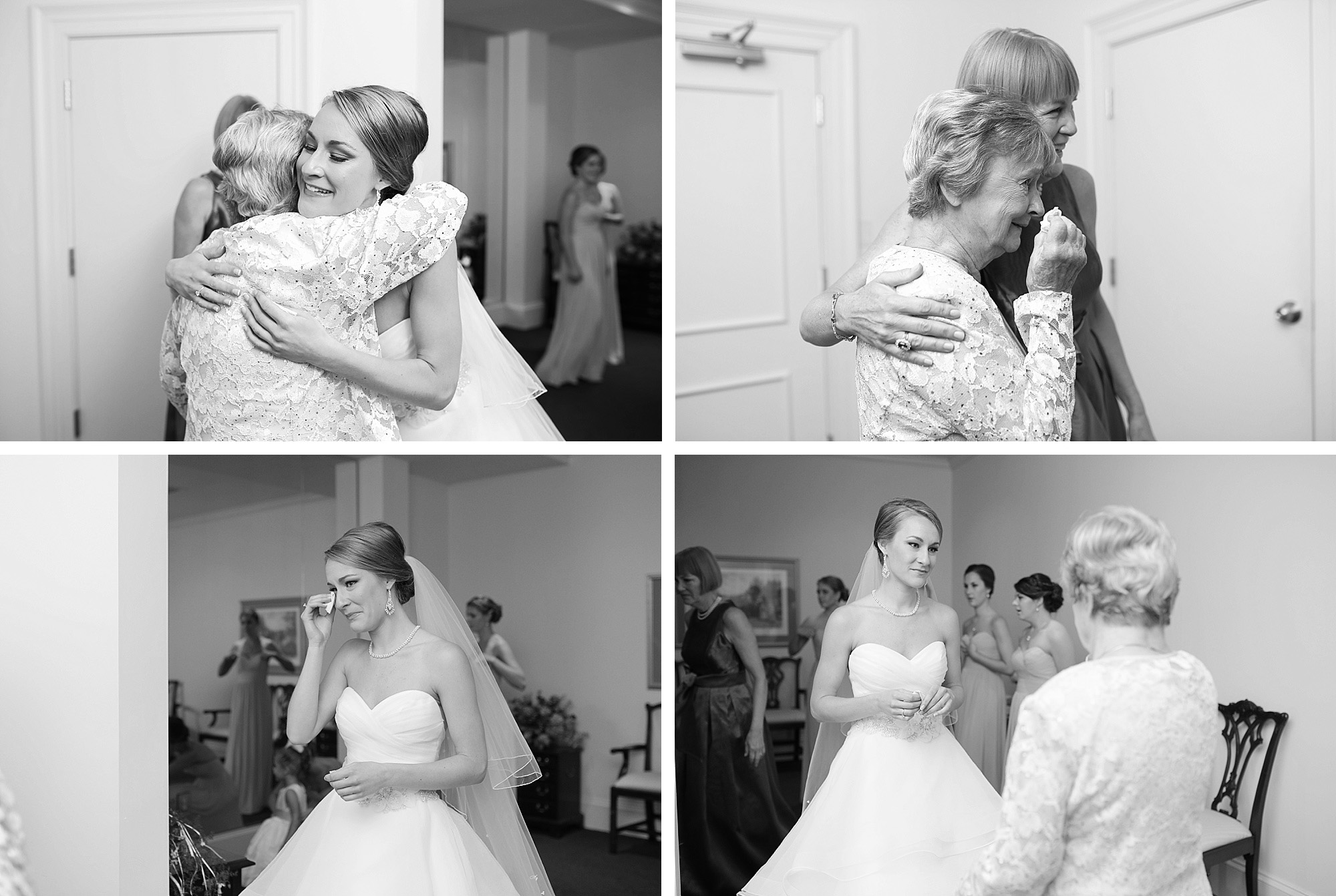 The tears were rolling when Tarina's grandmother saw her for the first time as a bride.
