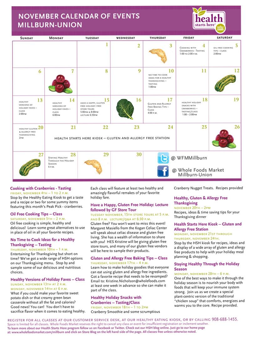 Health Starts Here Calendar
