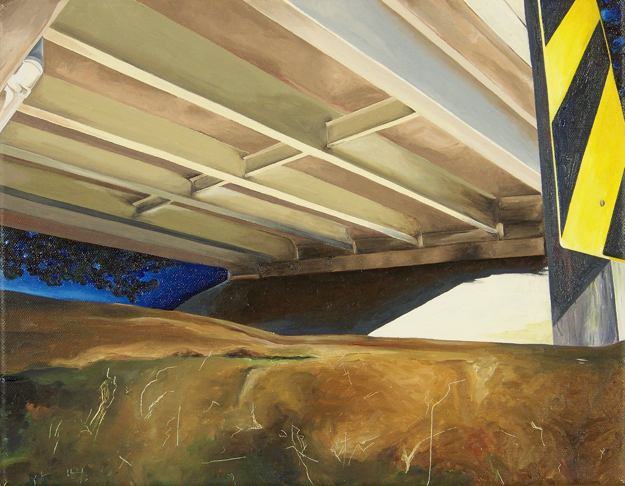 Under the Bridge_2009_oil on canvas_12inx10inx12in.jpg