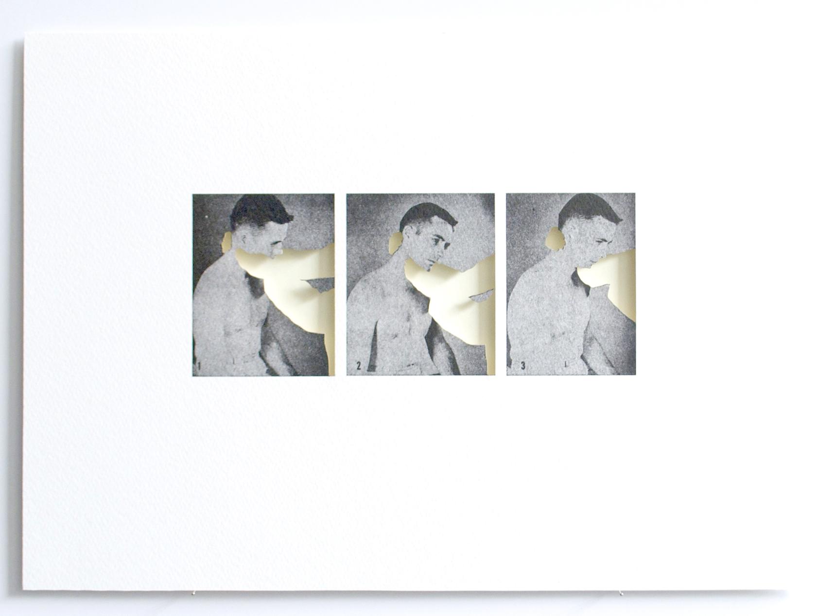 Palpación del cuello. 27.5 x 39 cm