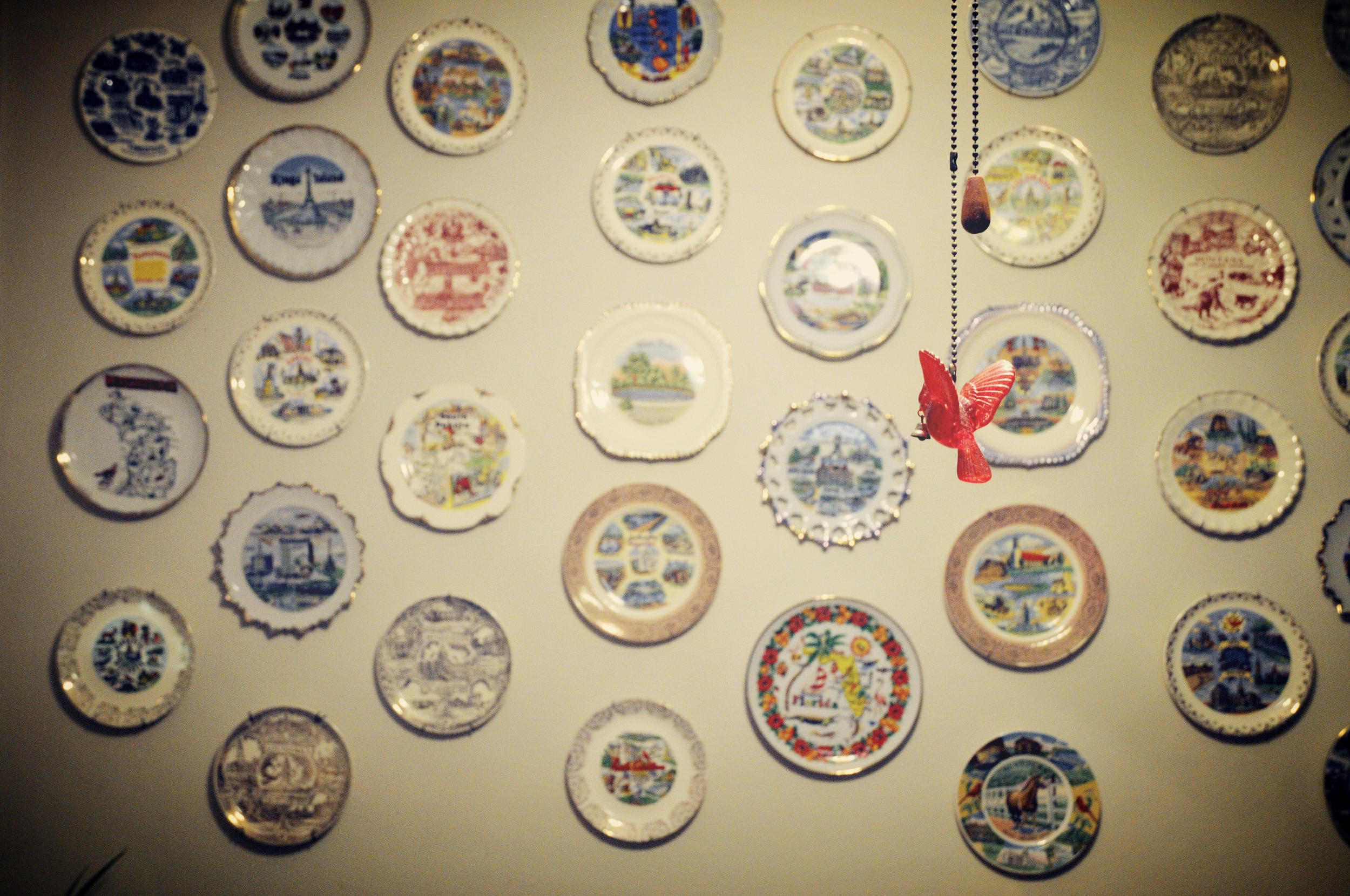 One for every location! Each tells a story and history of the area visited.
