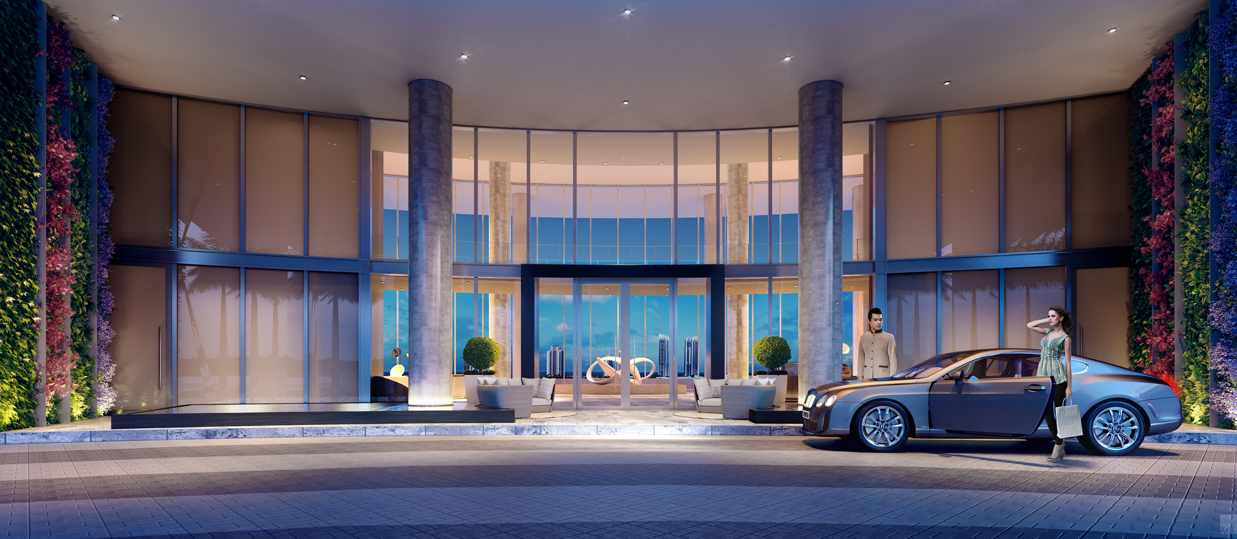 3-AMENITIES-Privé-Porte-Cochere-At-Dusk.jpg