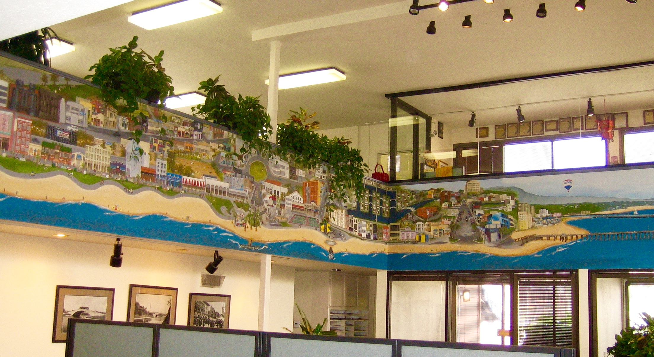 Mural of Venice, CA in RE/MAX Realty Office