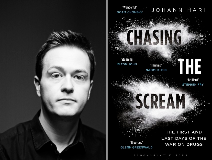 "Johann Hari, Author of, ""Chasing the Scream"". Hari's TEDTalk by the same title has over eight million views.  https://www.ted.com/talks/johann_hari"