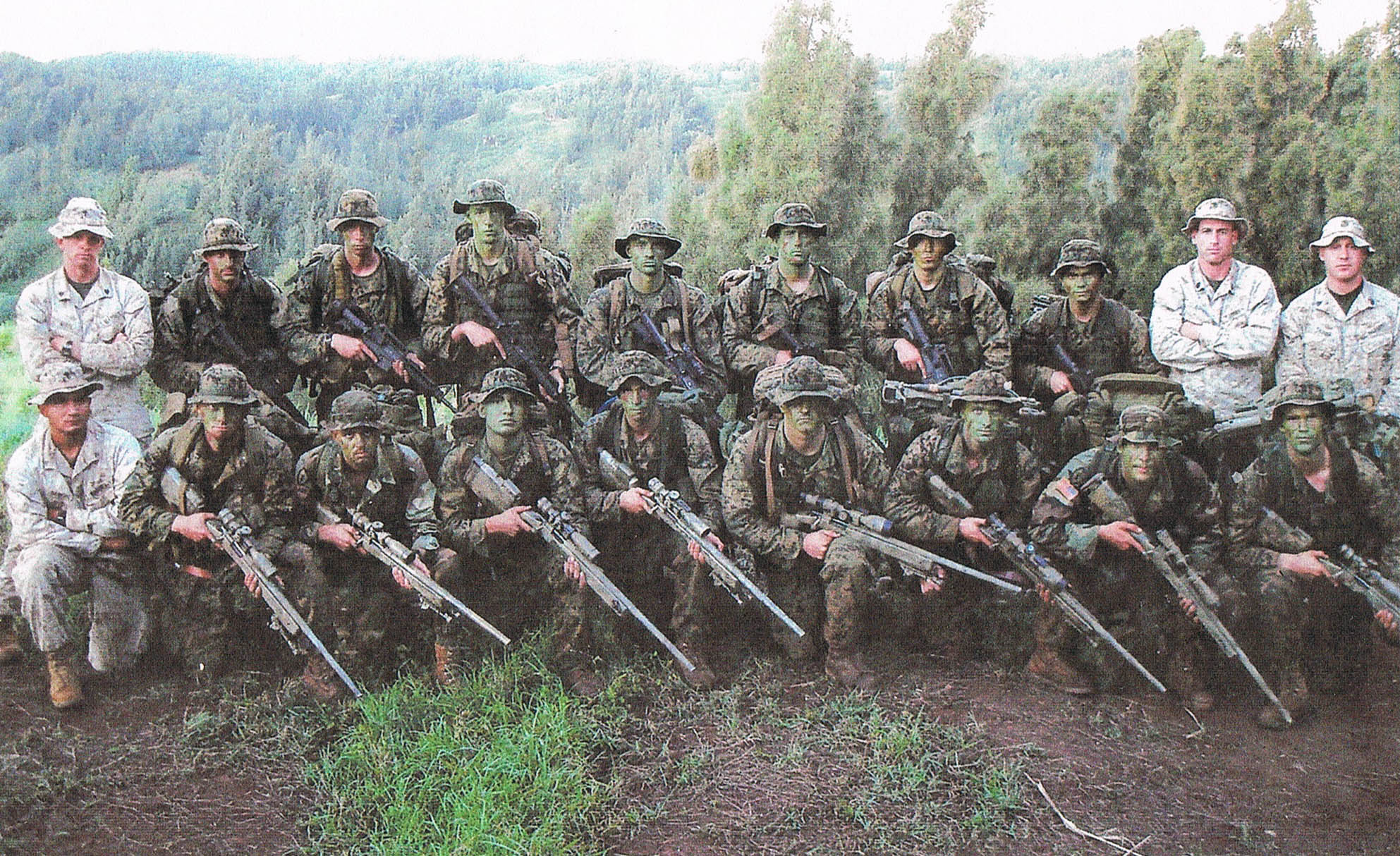 Kevin Krieger Sniper School (Pictured Front Row Fourth From The Right)- Dan's Big Brother