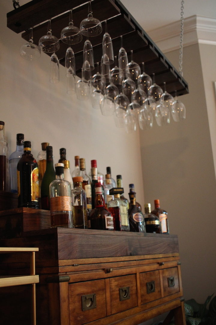 Wine Glass Rack and Black Walnut Liquor Shelf.JPG