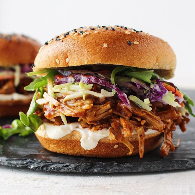 Pulled BBQ Jackfruit Burger