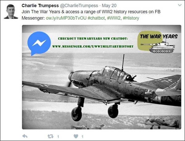 The War Years Twitter Post