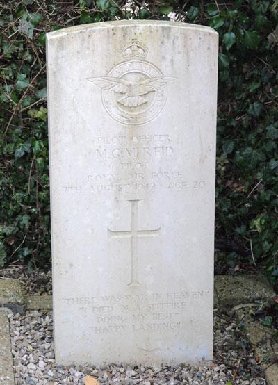 Pilot Officer Michael Gordon Meston Reid, 116060, RAF, died of wounds 7th August 1942