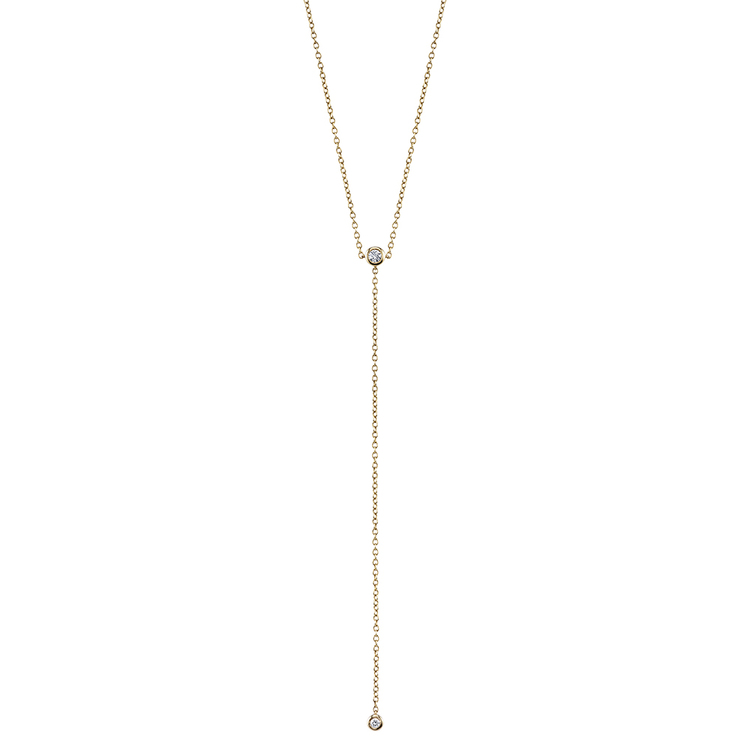 DIAMOND BEZEL, Y NECKLACE