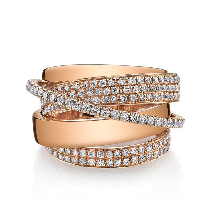 ESSENTIAL ORBIT RING W/ ROUND DIAMONDS