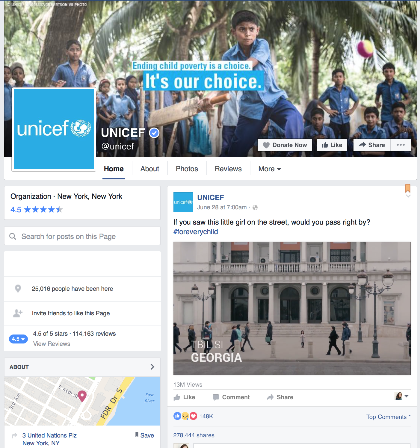 Unicef-Facebook