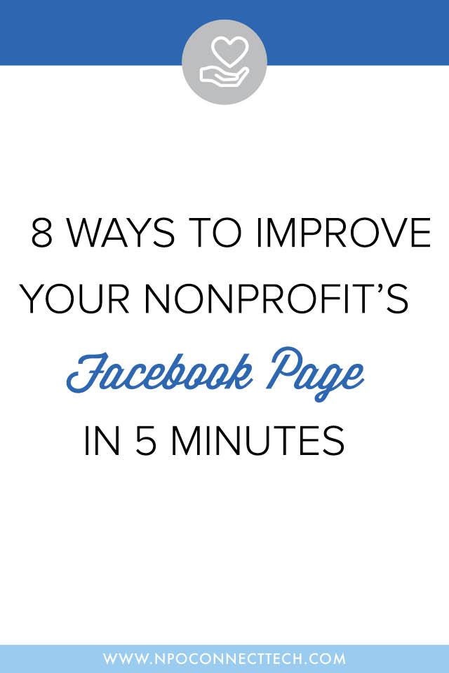 Ways-Improve-Nonprofit-Facebook-Page-5-Minutes