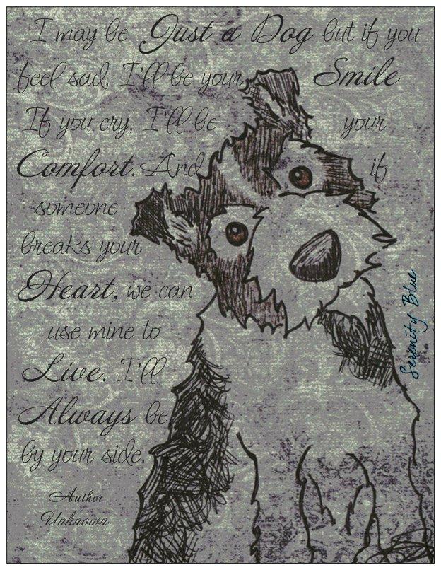 Grey Just a Dog post card.jpg