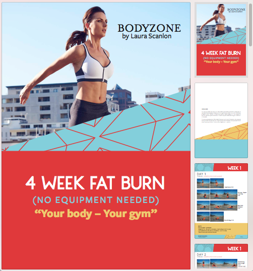 4 Week Fat Burn  - No Equipment needed. Workout Anywhere, Anytime.