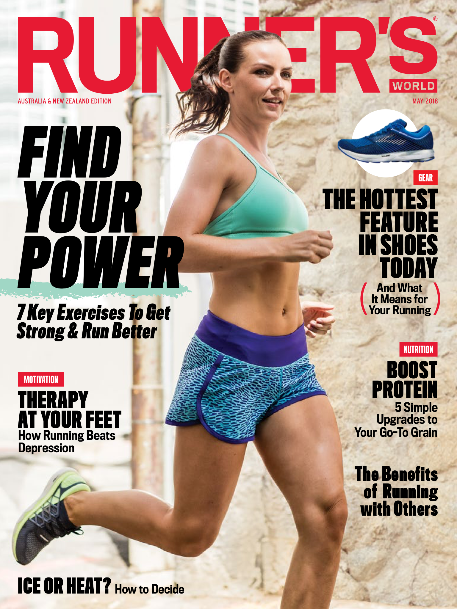 Cover of Runner's World Australia & NZ May 2018