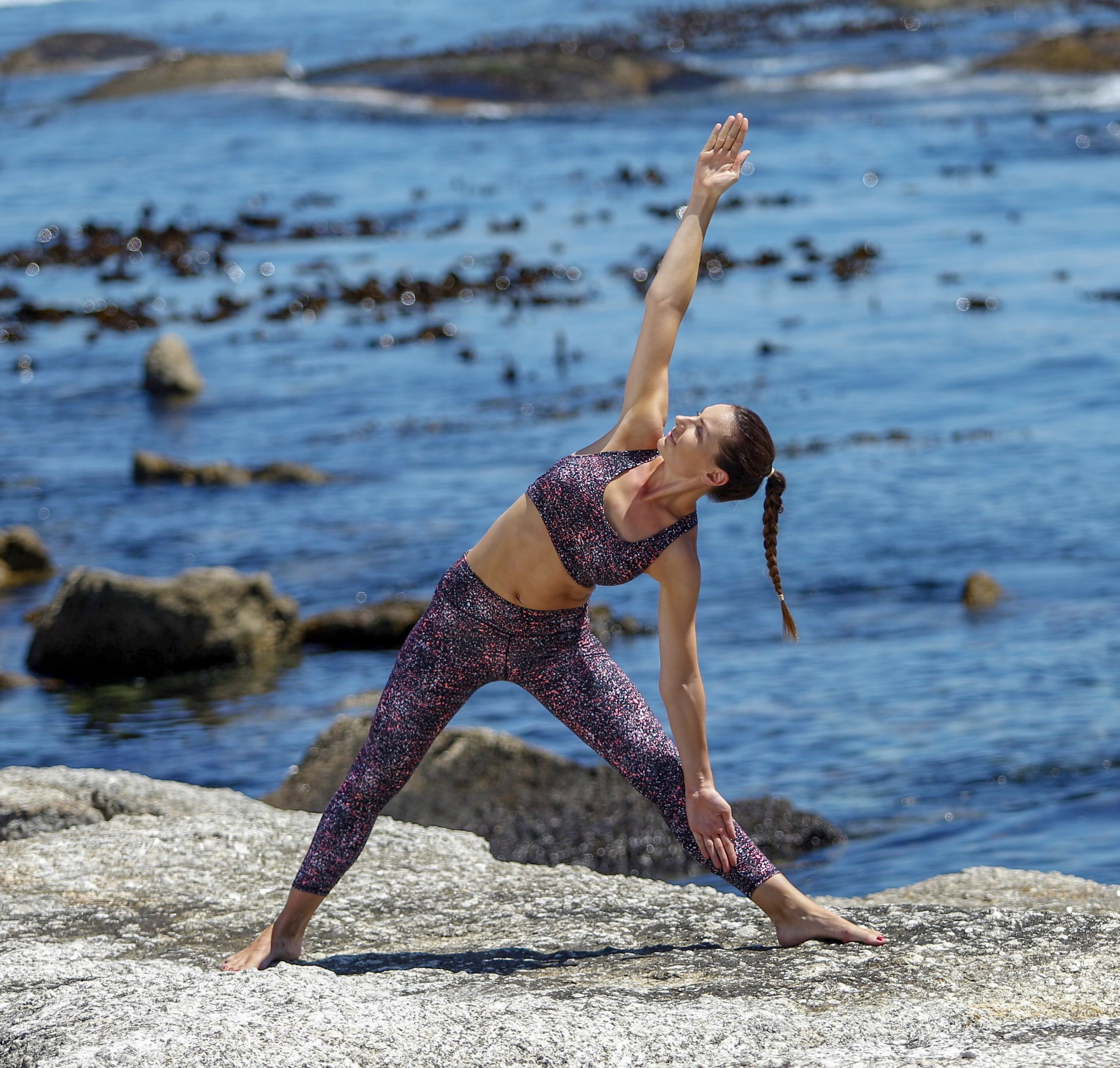 Trikonasana Or Triangle Pose -