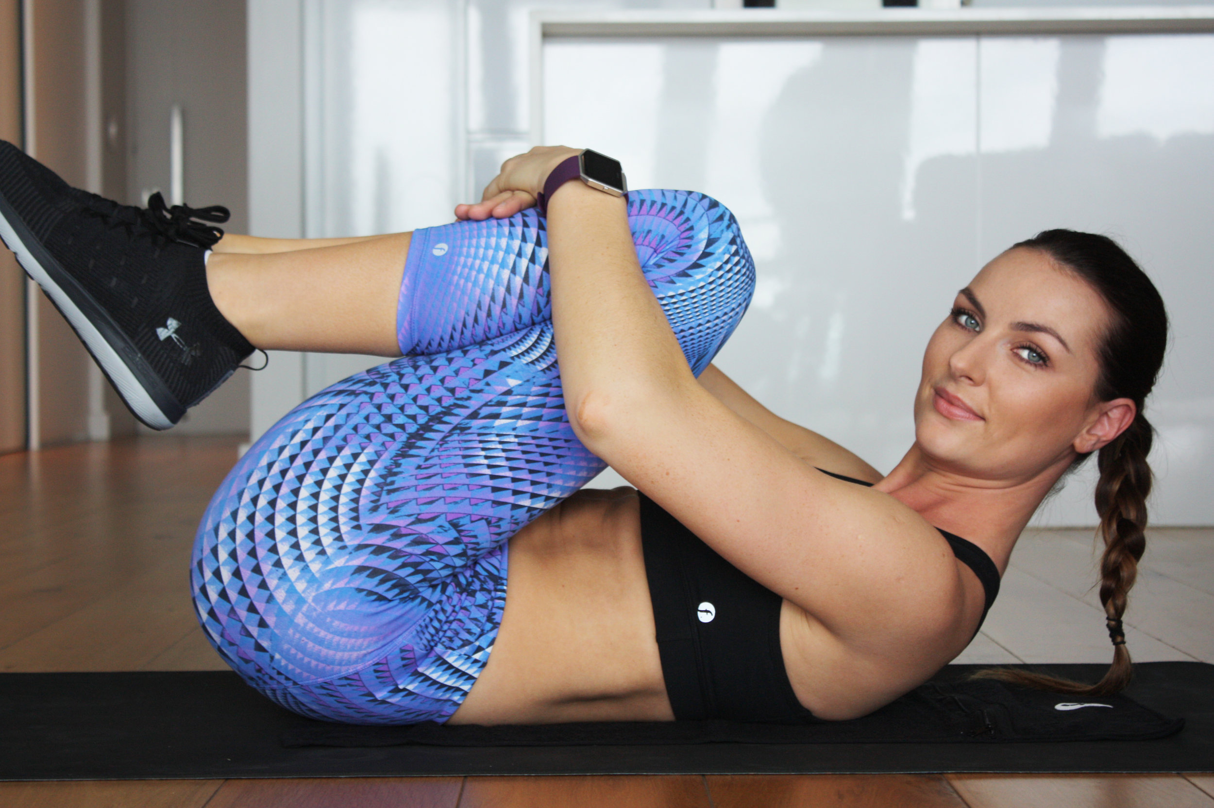 Always stretch before & after a workout - Wearing Fit Gym Wear