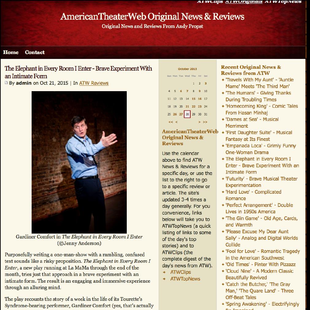 American Theatre Web by Rick Chason - 10/21/15