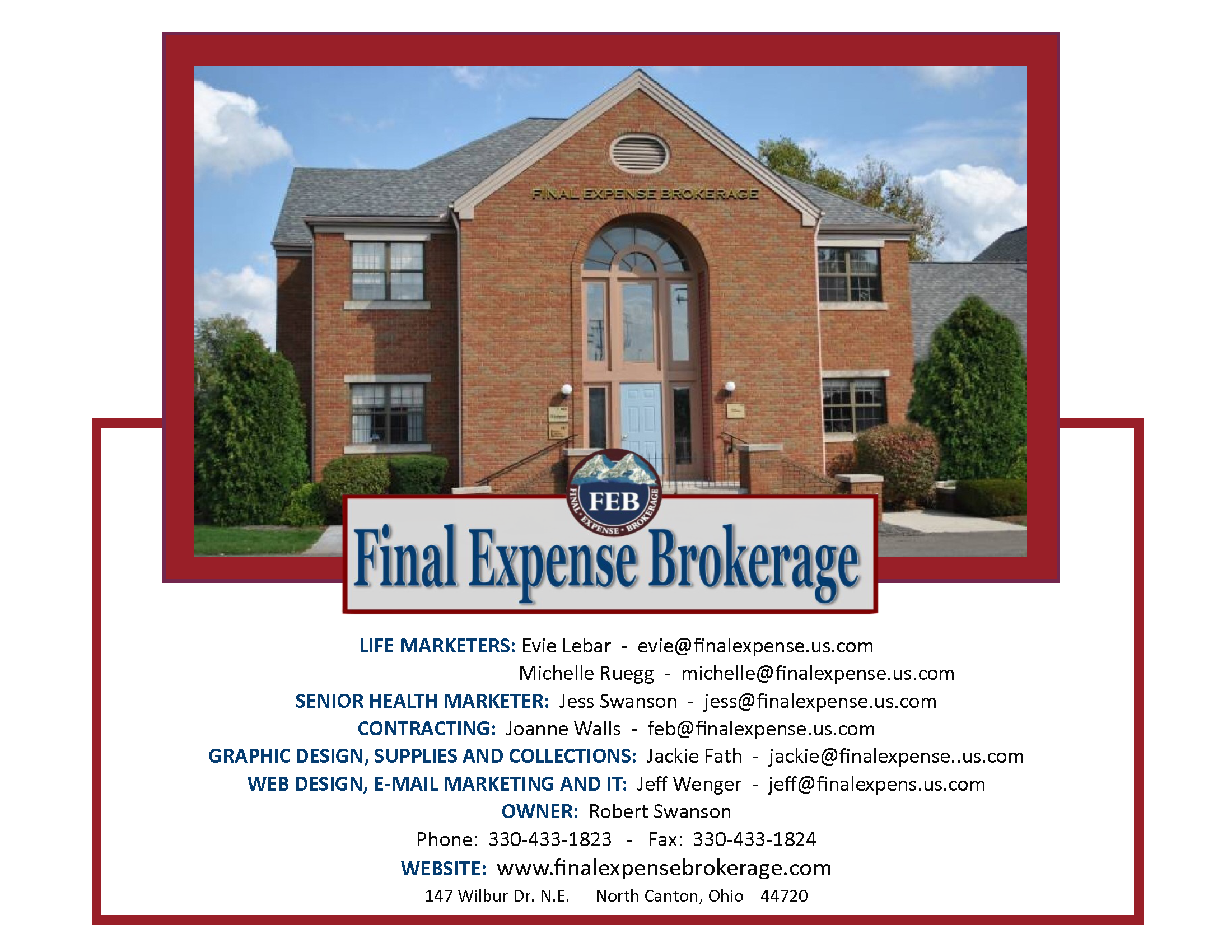 Final Expense Brokerage World Headquarters