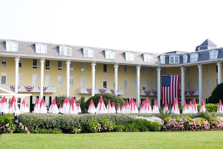THE GATHERING SPOT : Celebrating its 200th birthday this year, iconic   Congress Hall  is once again the grandest dame on the beach. Four presidents have summered in the massive resort; its wide beach, broad verandas, and sweeping lawn have starred in thousands of wedding albums. (PHOTO:Courtesy of Congress Hall)