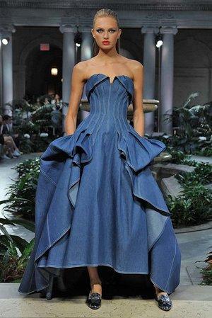 The denim ballgown!