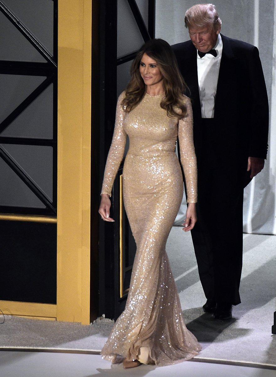 Melania Trump in Reem Acra