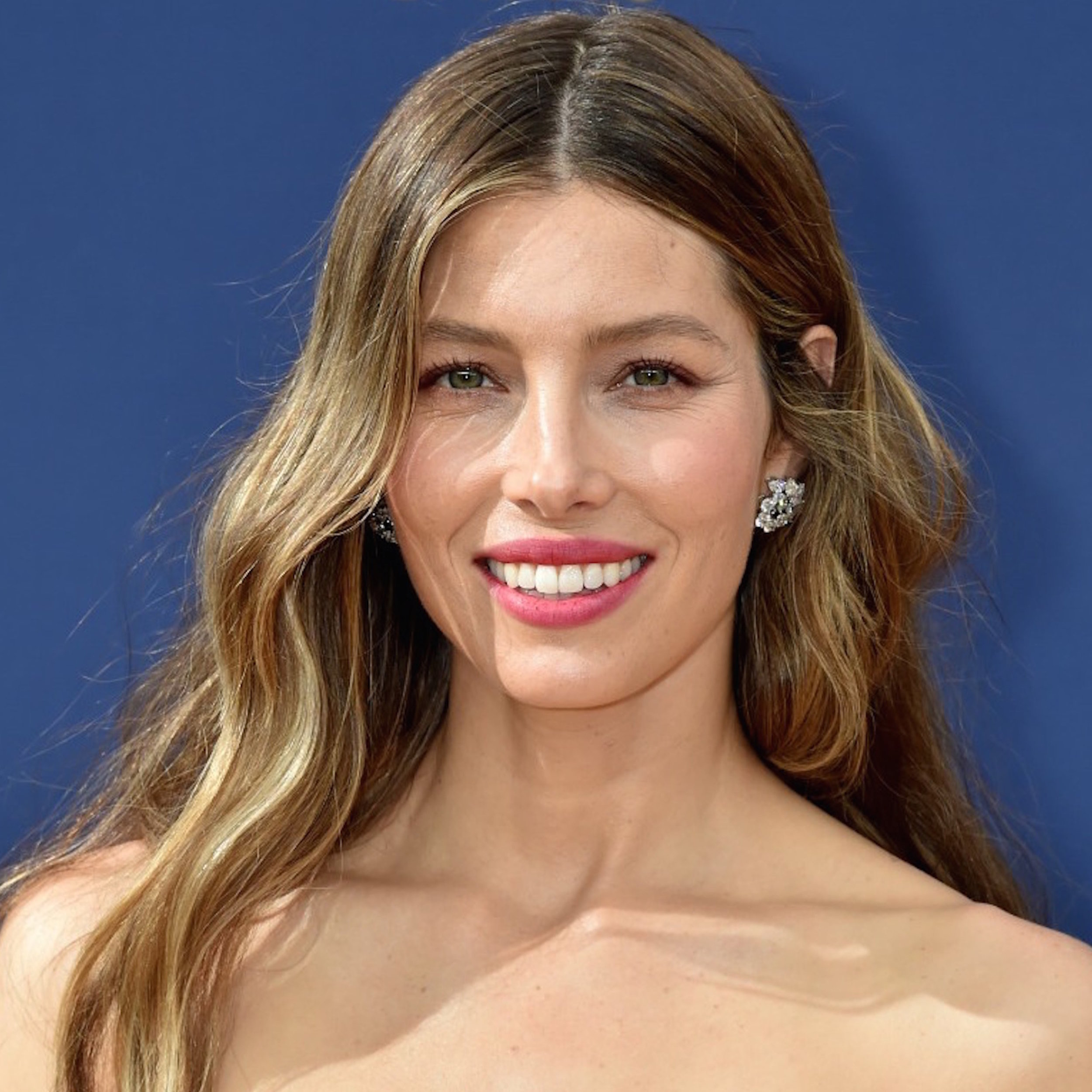"""""""I feel like I'm getting married again,"""" actress Jessica Biel said during a red-carpet interview, a reference to her asymmetrical Ralph & Russo gown, a silk satin organza creation in a becoming shade of off-white. And what bride wouldn't want to wear Biel's Harry Winston open cluster earrings—a pair of spiraling, substantial posts featuring 11.48 carats of multi-shaped diamonds—with her wedding-day look? -"""