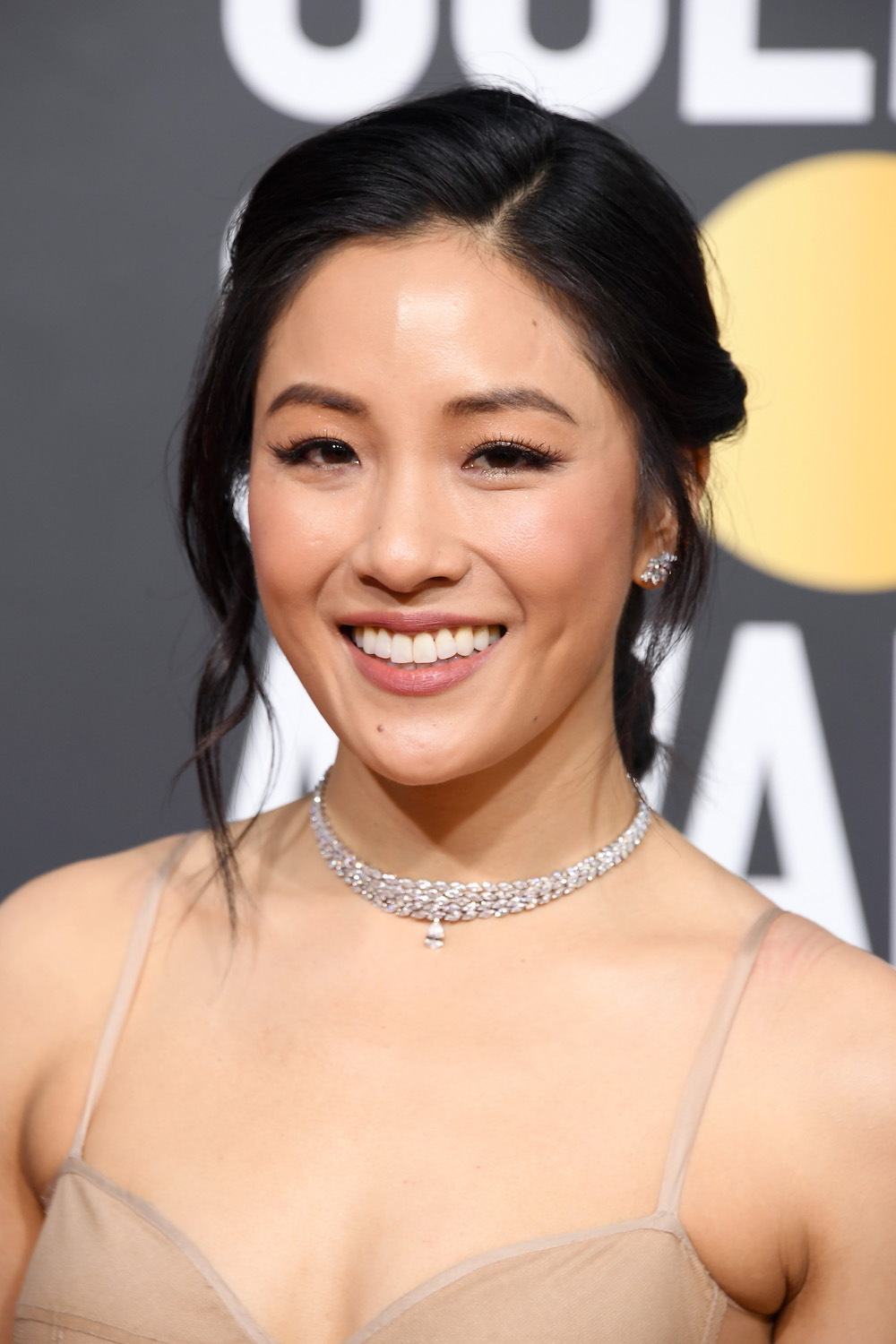 The Crazy Rich Asians star, Constance Wu, also chose Vera Wang and paired the lingerie-inspired gown with Parisian jewelry designer Valerie Messika's magic spell diamond choker and firebird diamond earrings.TREND ALERT: Chokers were a very big last night (see: Rachel Weisz in Cartier and Kiki Layne in Bulgari). -