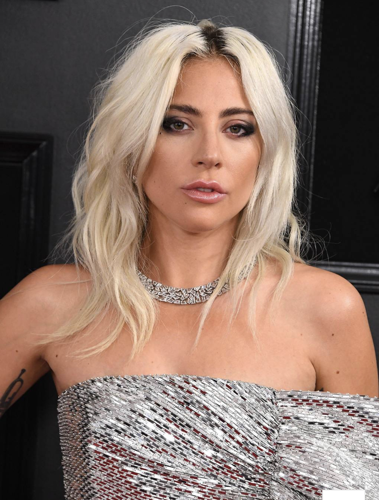 Lady Gaga wore a Tiffany & Co. necklace with reportedly over 100+ carats of diamonds. -