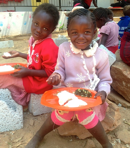 "Our feeding program comes through the funding of Child Sponsors. To sponsor a child, visit our "" Child Sponsorship "" page!"