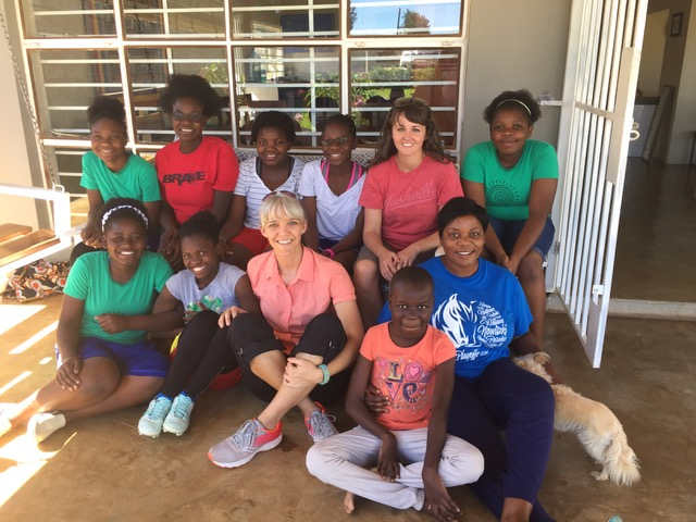 Erin & Connie with the Arise Home Girls and their House Mom