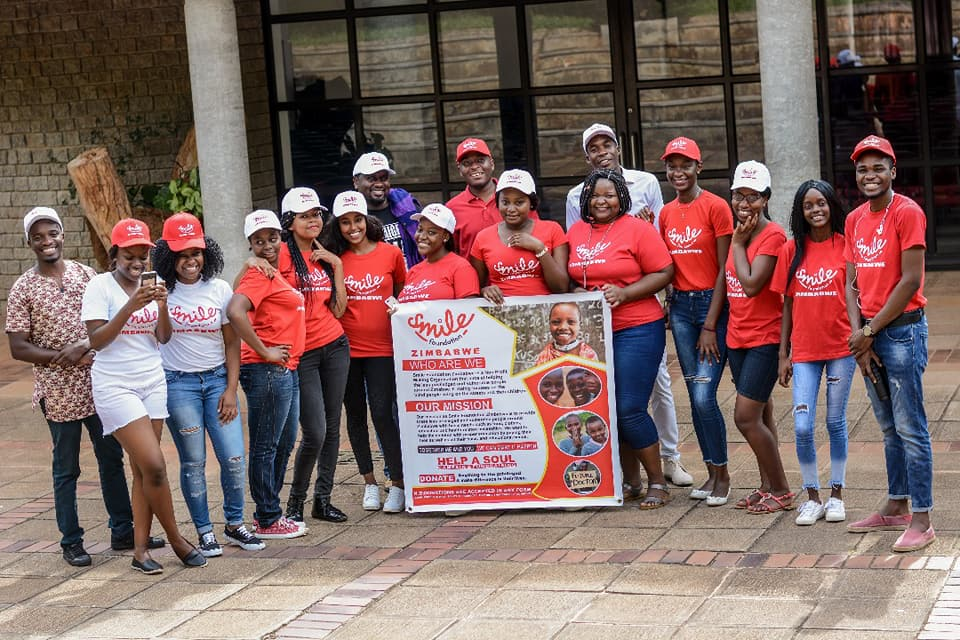 Joseph supporting Smile Foundation in Zimbabwe at AU