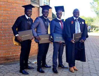 Joesph and classmates (L-R) : David, Edouard, Joesph, Vincent
