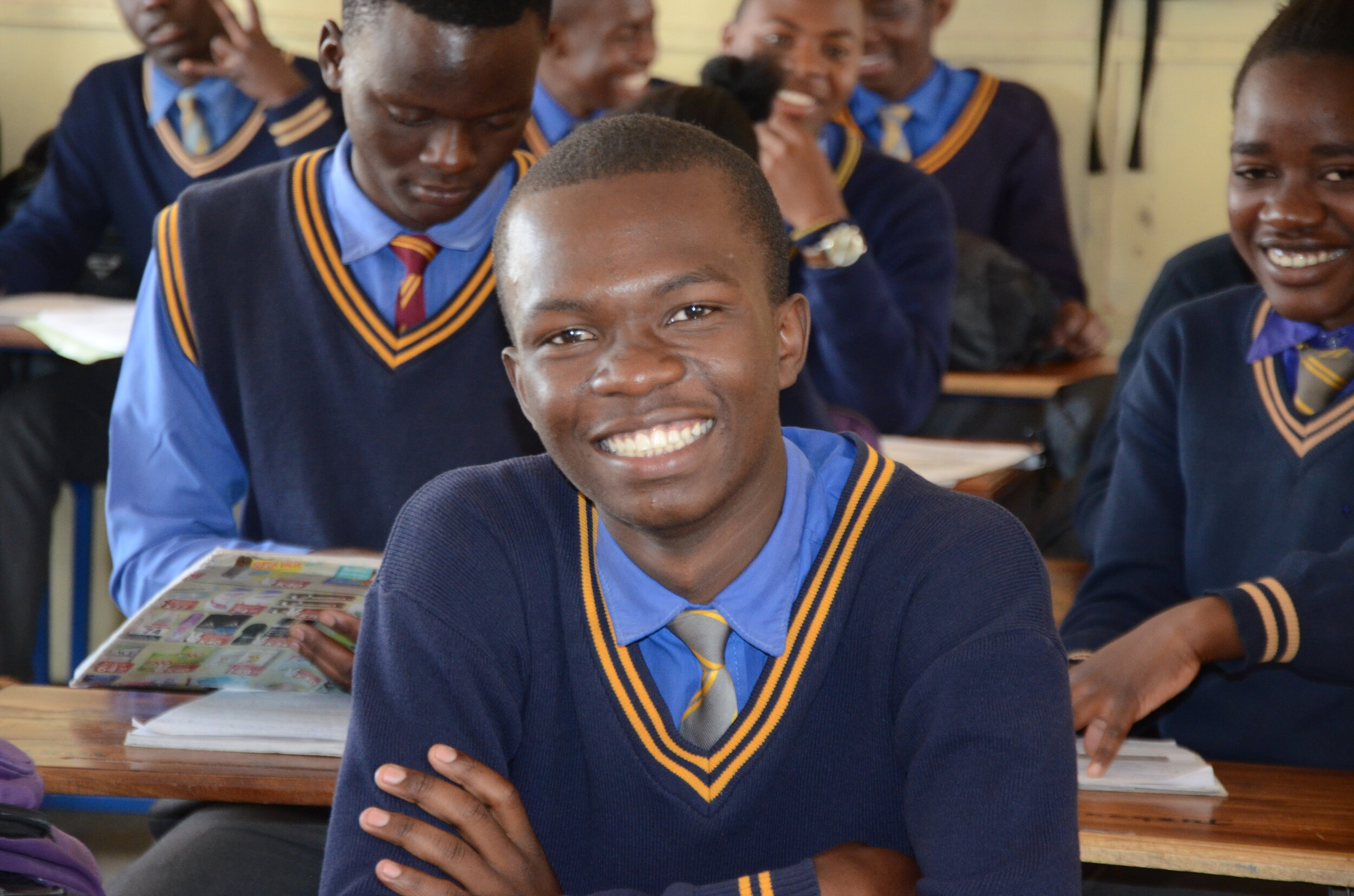 Timothy in class at Northmead Secondary School