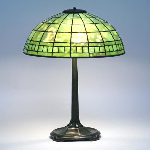 Lot 160 - Tiffany Studios Leaded Glass Lamp