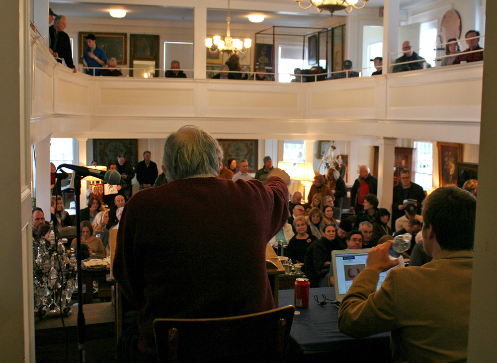 A typical view on auction day, with Mr. Marinucci auctioneering to a full crowd.
