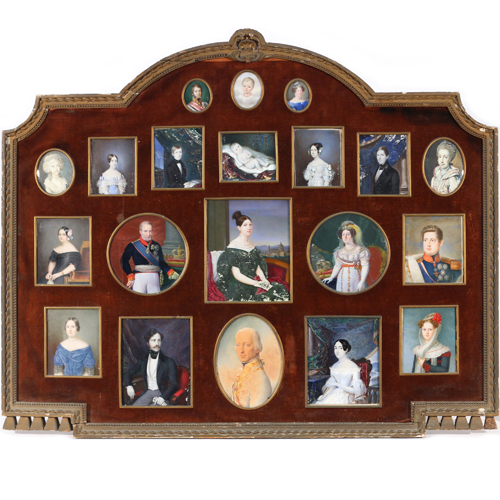 (20pc) Familial Portrait-Miniature Collection