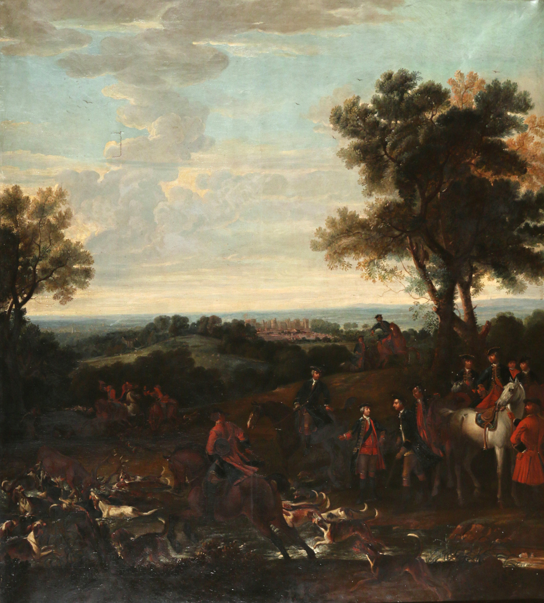 Monumental English School Sporting Painting