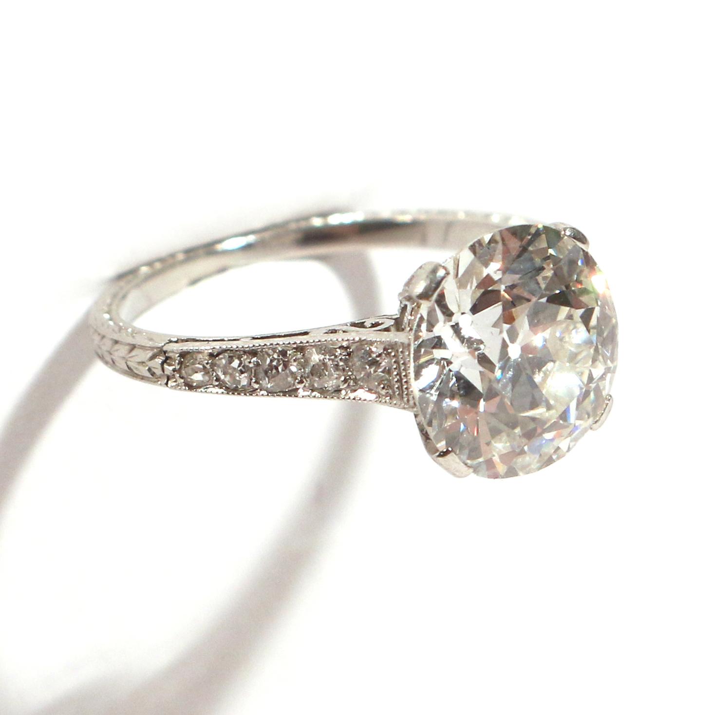 Lot 92 - 3.44ct OLD MINE CUT DIAMOND