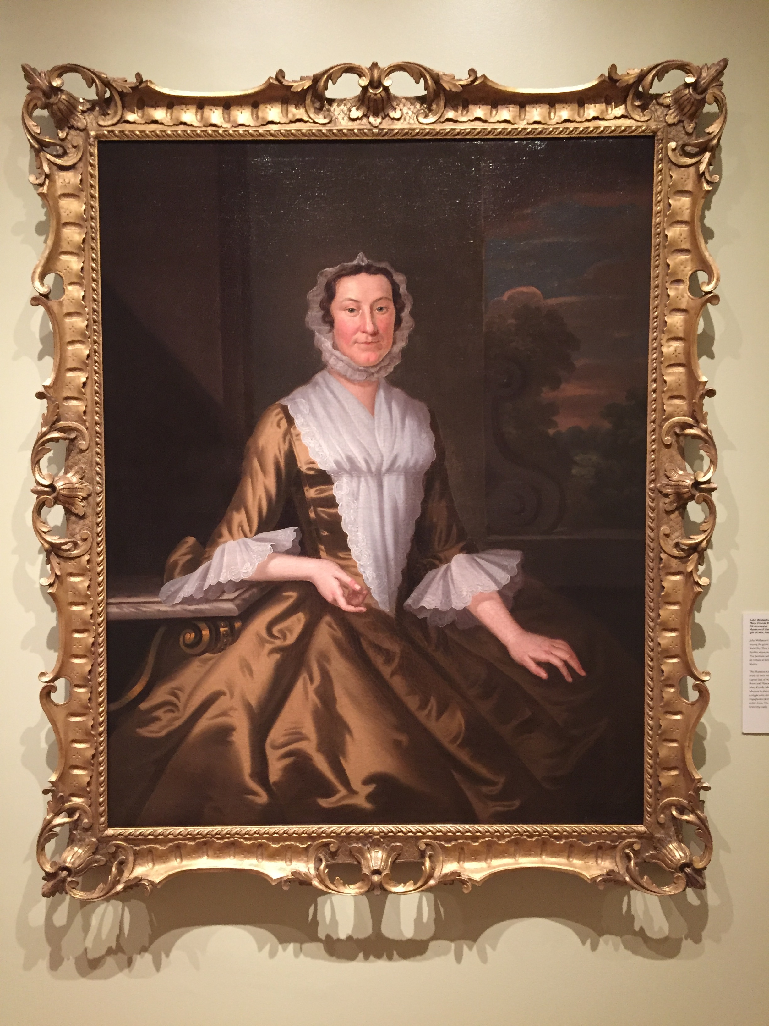 Mary Crooke Marston (Mrs. Nathaniel Marston), c.1751 by John Wollaston (1710-1775)