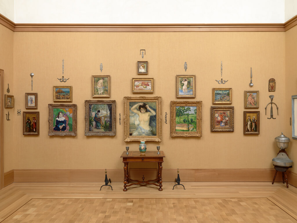 View of an ensemble at the Barnes Foundation