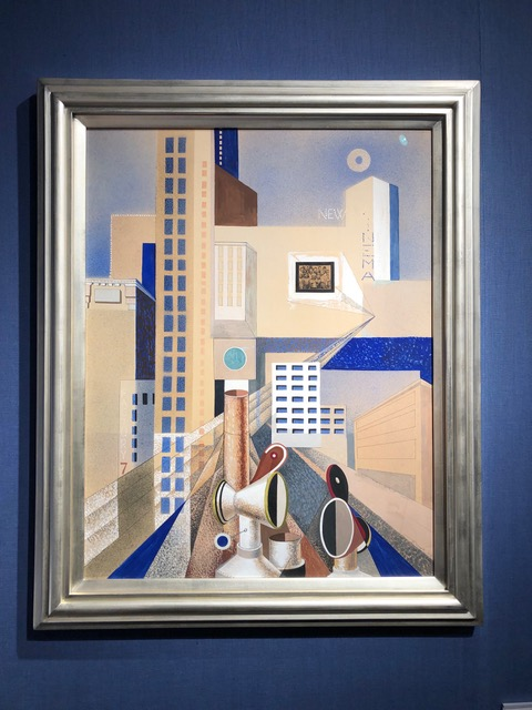 """Theodore Roszak,  City Forms , 1937, gouache, watercolor and collage on board; 29 1/8"""" X 24 1/8"""". Menconi + Schoelkopf"""