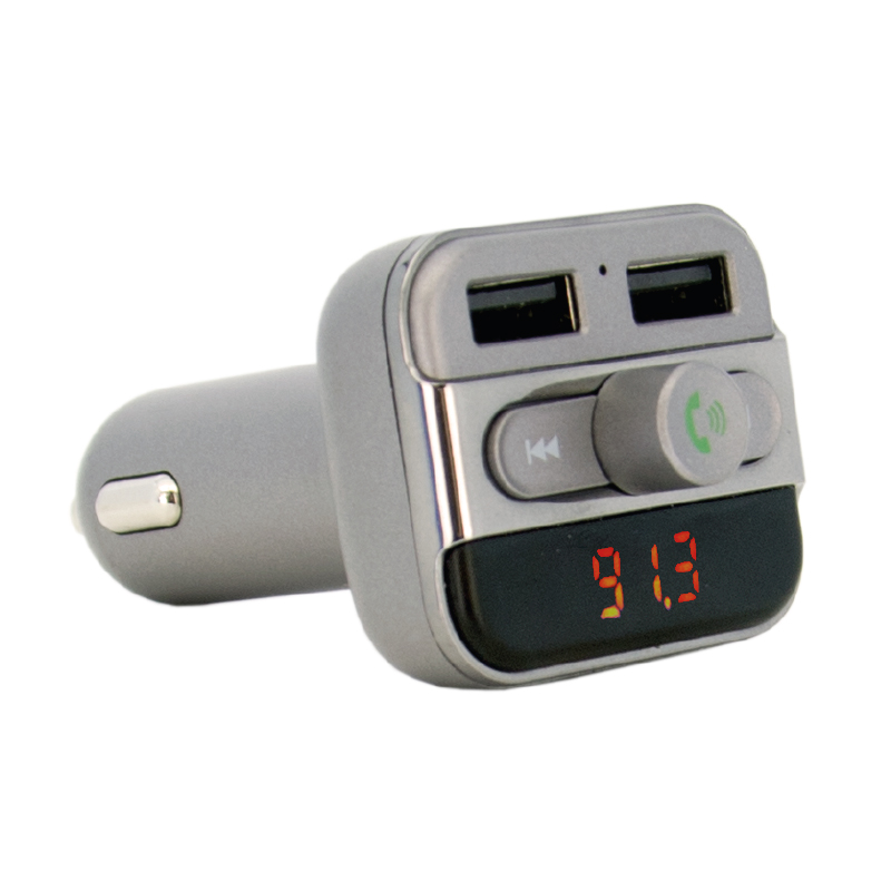 BLUETOOTH FM TRANSMITTER AND 3.4AMP CAR CHARGER