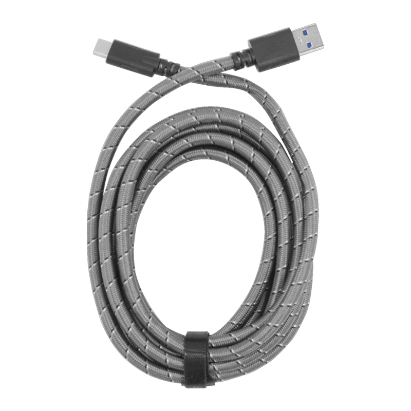 10' BRAIDED CHARGE & SYNC CABLE FOR USB TYPE C 3.0