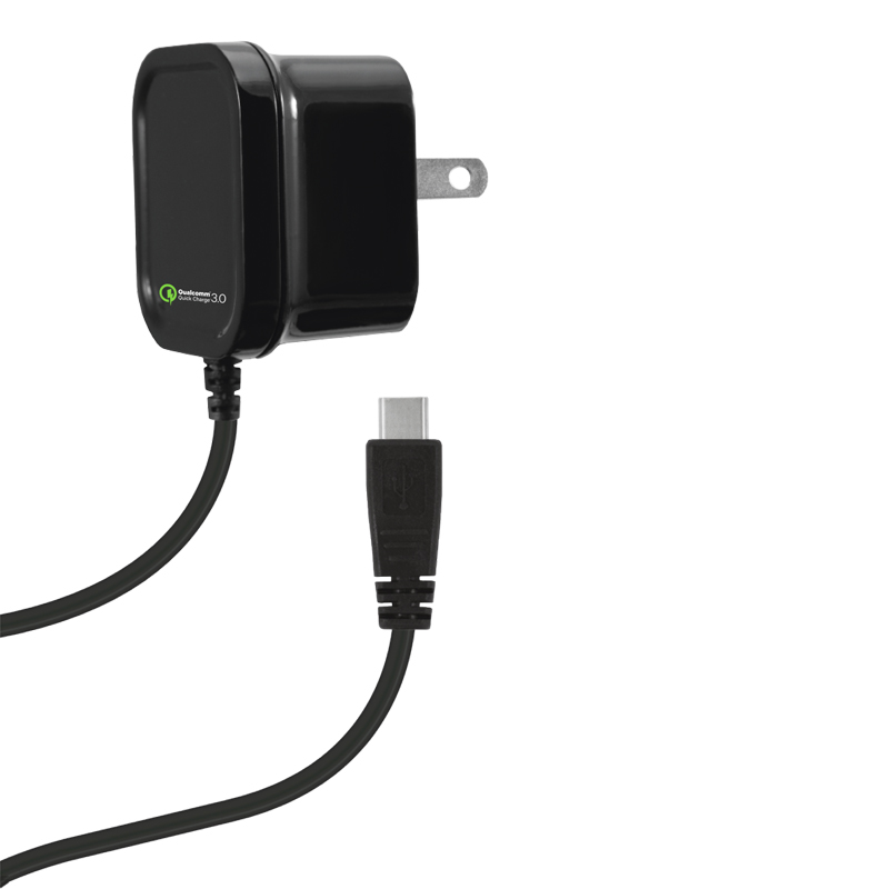 2.4 AMP QUALCOMM QUICK CHARGE 3.0 WALL CHARGER FOR USB TYPE C
